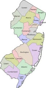 NJ Counties Map
