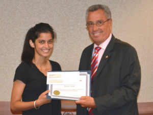 Middlesex County - NJAC Foundation & Investors Bank Scholarship Award - Jessica Saini and Freeholder Director Ronald Rios