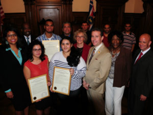 Essex County - NJAC Foundation & Investors Bank & PSEG Scholarship Award Recipients w Freeholders & John Donnadio - NJAC